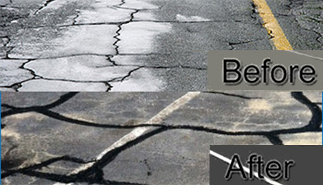 Asphalt Crack Sealing Repair, Virginia